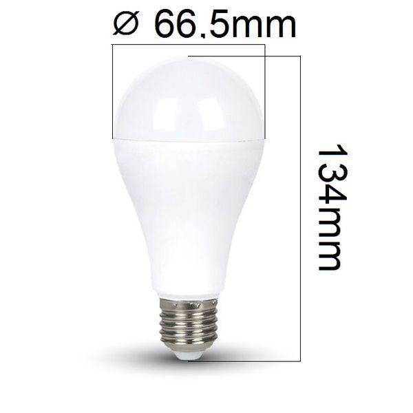 LED žárovka E27 17W 1800m studená, ekvivalent 130W