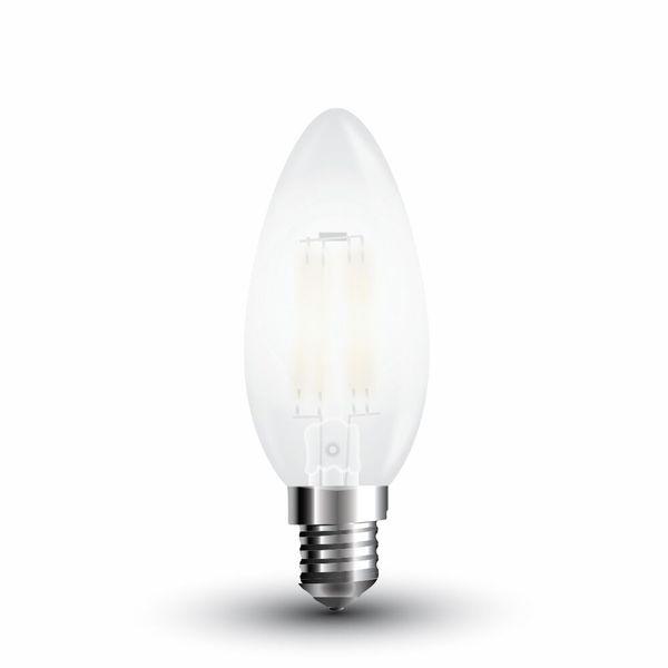Stmívatelná LED žárovka E14 4W 400lm teplá, filament, ekvivalent 40W