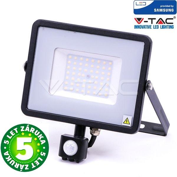 Prémiový ultratenký LED reflektor 50W 4250lm s čidlem SAMSUNG čipy studená