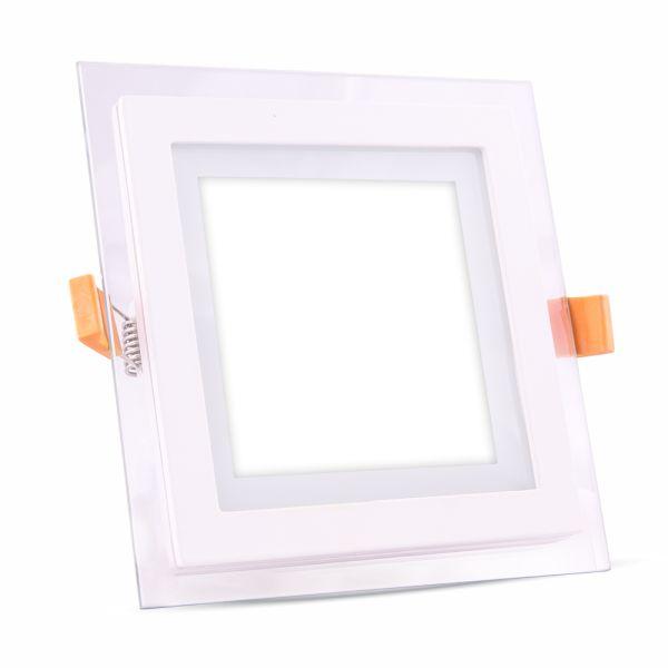 LED panel 6W 420lm 10x10cm teplé světlo,  čtvercový