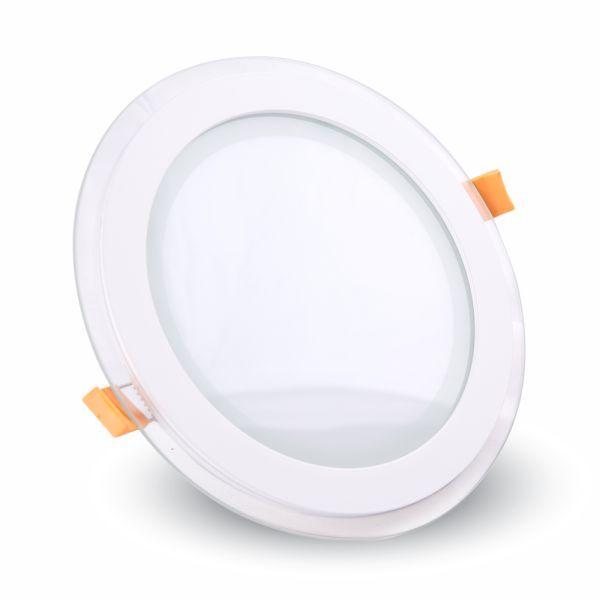 LED panel 6W 420lm 10cm teplé světlo, kruhový