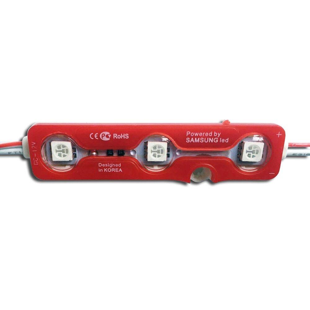 LED modul 3x5050 smd 0,72W červená