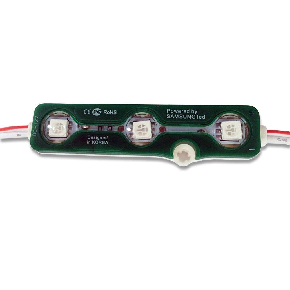 LED modul 3x5050 smd 0,72W zelená