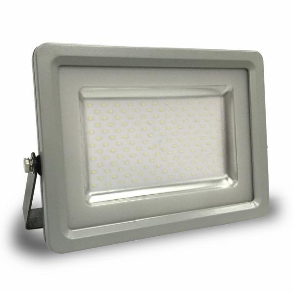 Ultratenký LED reflektor šedý 50W 4000lm teplá