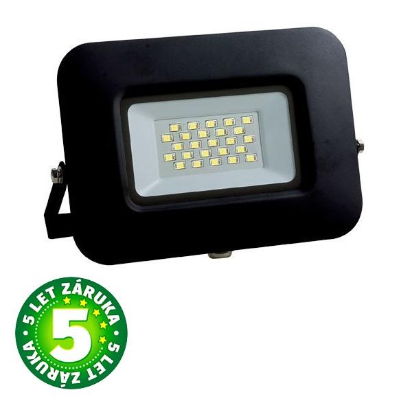 Ultratenký  LED reflektor černý   20W 1700lm, denní