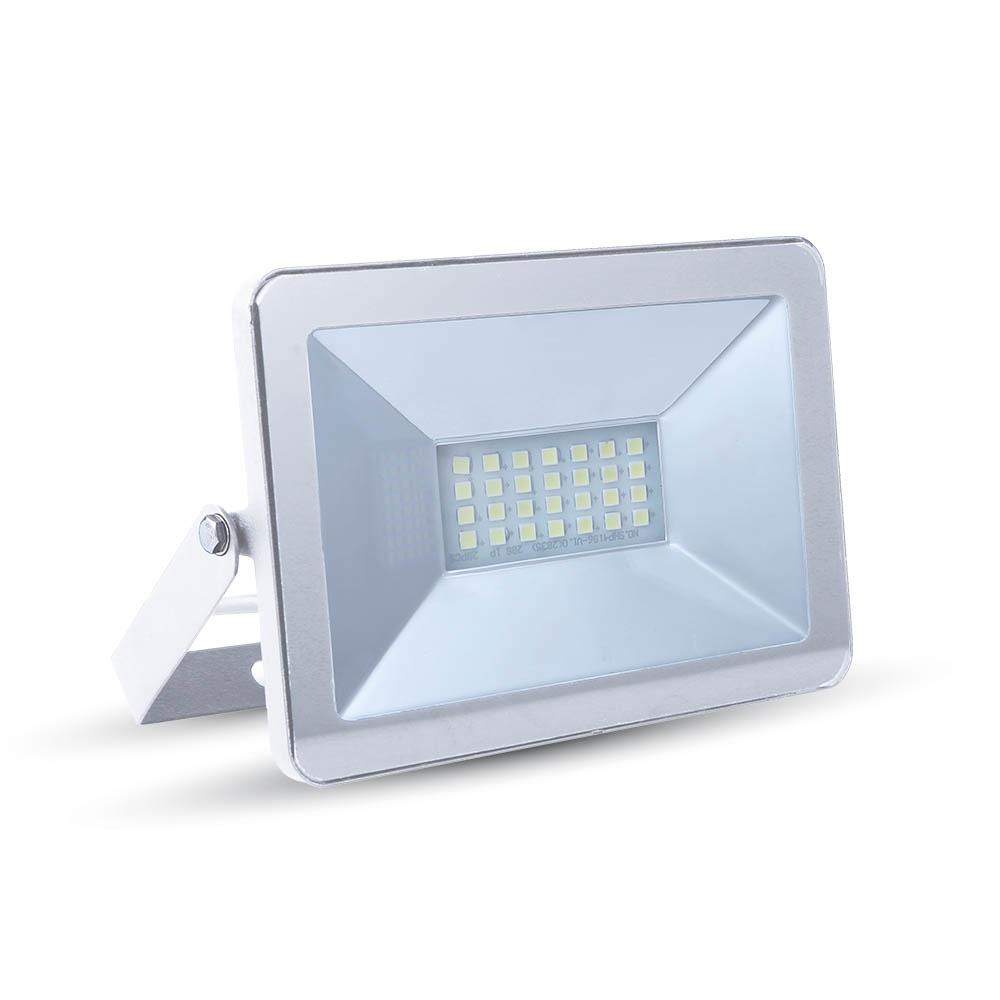 Ultratenký LED reflektor bílý 10W 850lm teplá