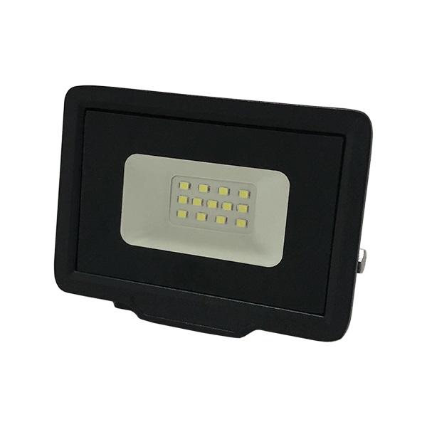 Ultratenký LED reflektor černý  10W 800lm, studená