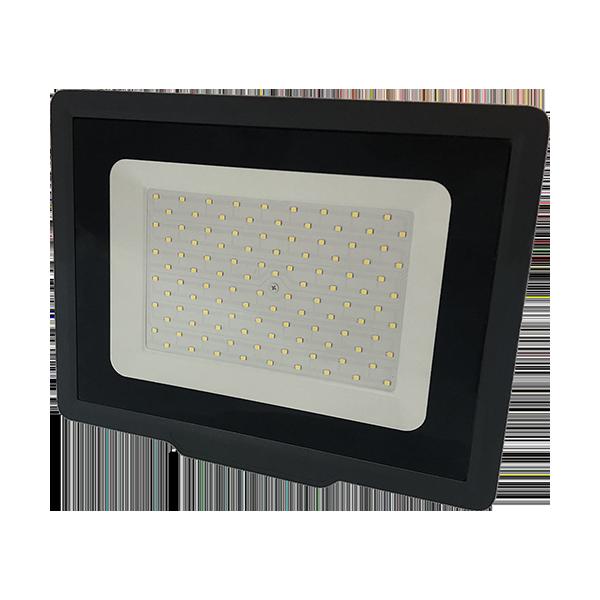 Ultratenký LED reflektor  černý   100W 8000lm, studená
