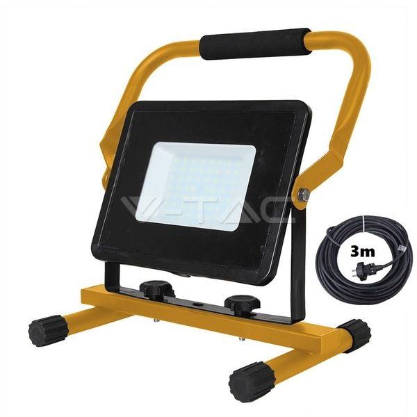 Ultratenký přenosný LED reflektor 50W 4250lm studená