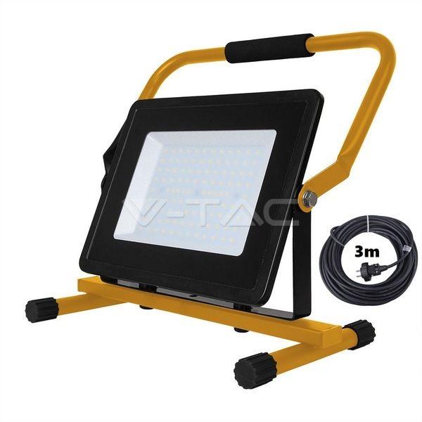 Ultratenký přenosný LED reflektor 100W 8500lm denní