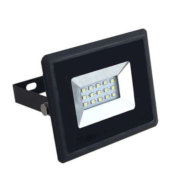 Ultratenký LED reflektor černý 10W 850lm, studená