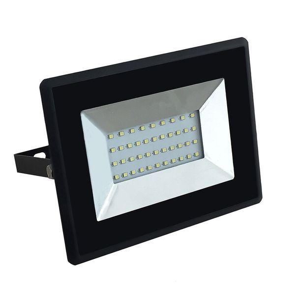 Ultratenký LED  reflektor černý 30W 2550lm, denní