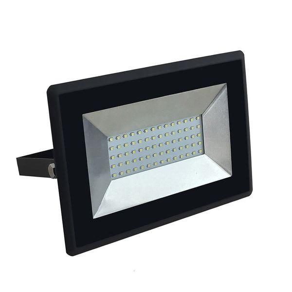 Ultratenký LED  reflektor černý 50W 4250lm teplá