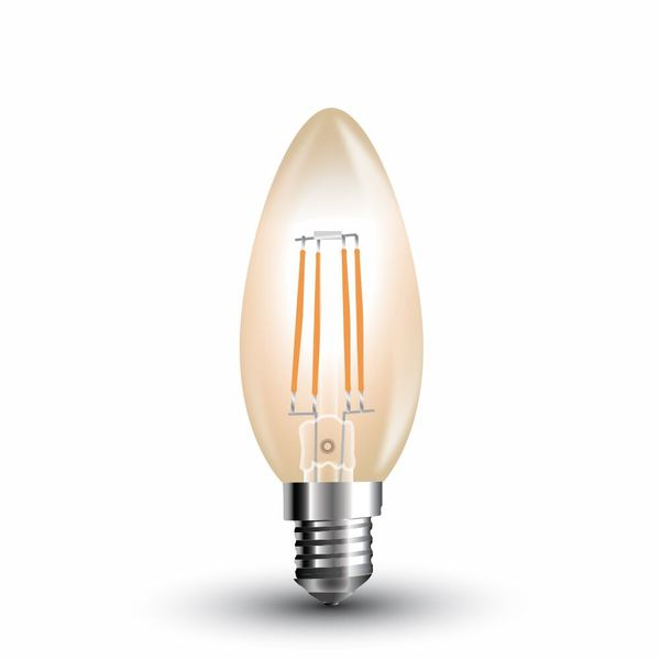 Retro LED žárovka  E14 4W 350lm teplá, filament, ekvivalent 35W