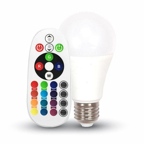 Vícebarevná LED žárovka E27 RGB 6W 470lm, ekvivalent 40W