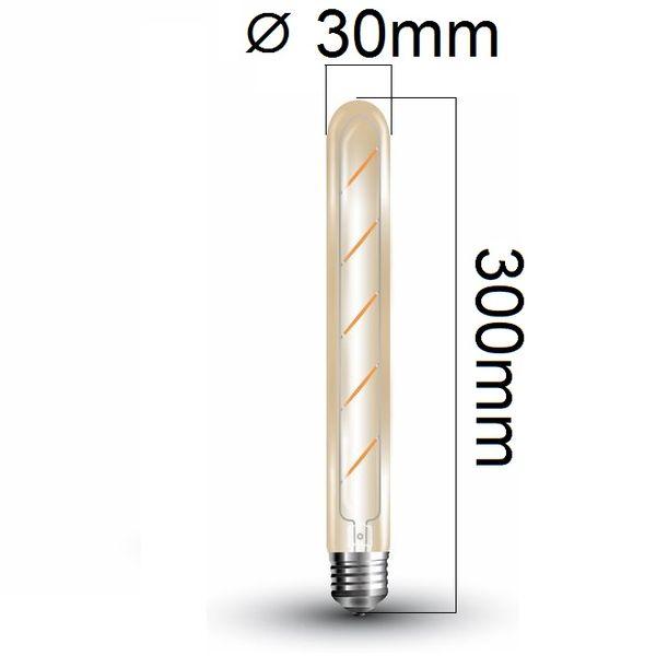 Retro LED žárovka E27 5W 500lm teplá, filament, ekvivalent 45W