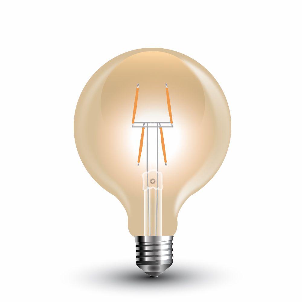 Retro LED žárovka E27 4W 400lm G80 teplá, filament, ekvivalent 40W
