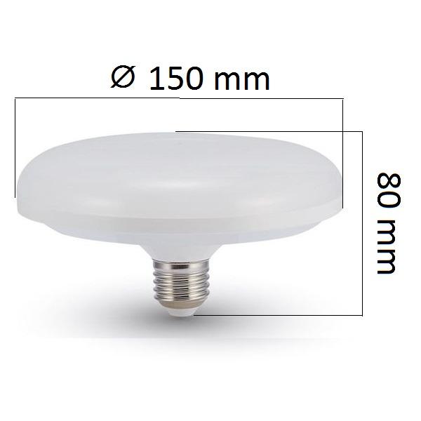 LED žárovka E27 UFO 16W 1350lm, denní, ekvivalent 90W