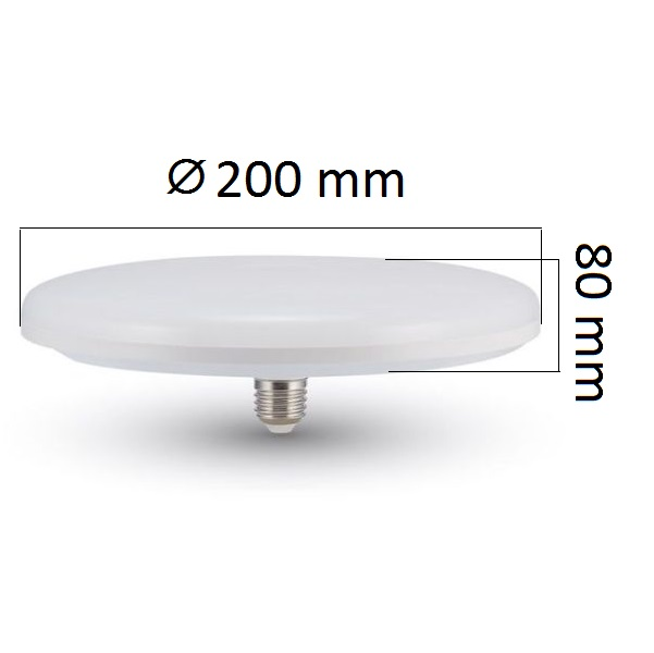 LED žárovka E27 UFO 24W 2610lm teplá, ekvivalent 160W
