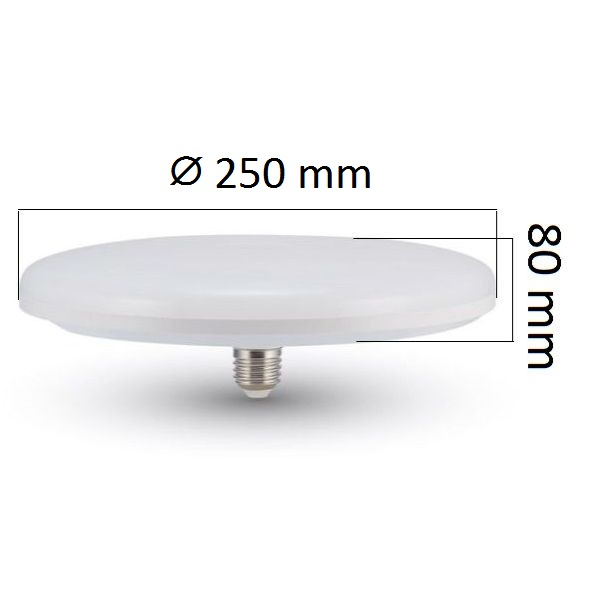 LED žárovka E27 UFO 36W 3240lm, studená, ekvivalent 190W