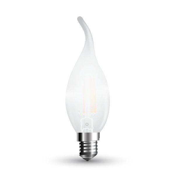 Stmívatelná LED žárovka E14 4W 350lm teplá, filament, ekvivalent 40W