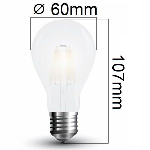 Retro LED žárovka E27 5W 600lm denní, filament, ekvivalent 50W