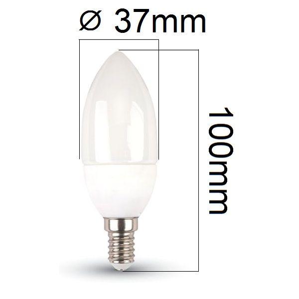 LED žárovka E14 3W 250lm teplá, ekvivalent 25W