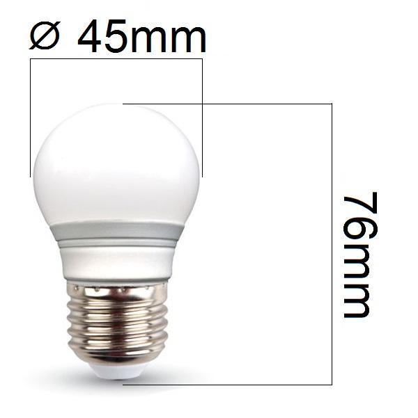 Akce: LED žárovka E27 3W 250lm G45 teplá 3+1