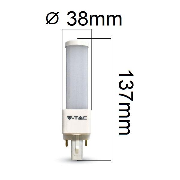 LED žárovka G24 6W 480lm teplá, ekvivalent 45W