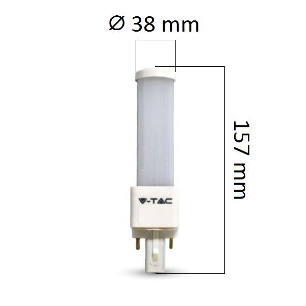 LED žárovka G24 10W 820lm denní, ekvivalent 85W