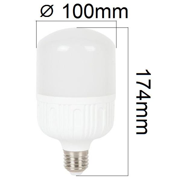 LED žárovka E27 24W 2080lm, studená, ekvivalent 150W