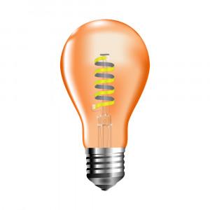 Retro LED žárovka E27 4W 360lm teplá, filament,  ekvivalent 40W
