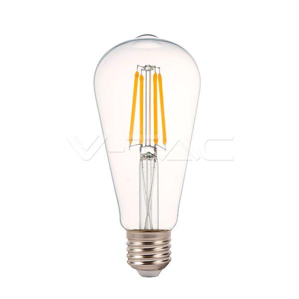 Stmívatelná retro LED žárovka E27 4W 490lm teplá, filament, ekvivalent 35W