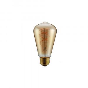 Retro LED žárovka E27 5W 300lm teplá, filament,  ekvivalent 30W