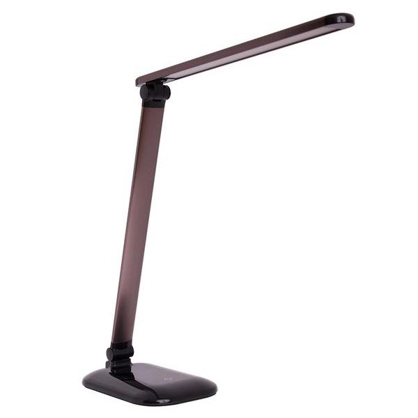 LED stolní lampička 7W, 3 barvy světla, hnědá