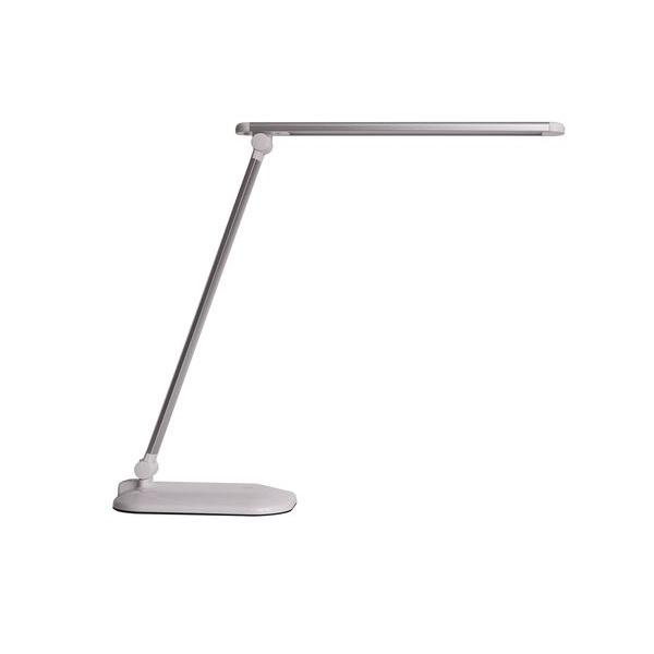 LED stolní lampička 7W, 3 barvy světla, stříbrná
