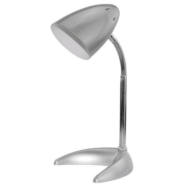 Stolní lampa s paticí E27, stříbrná