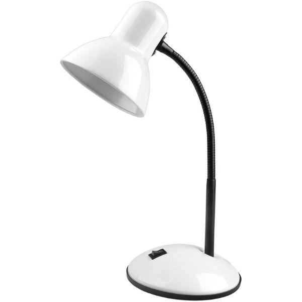Stolní lampa s paticí E27,  bílá