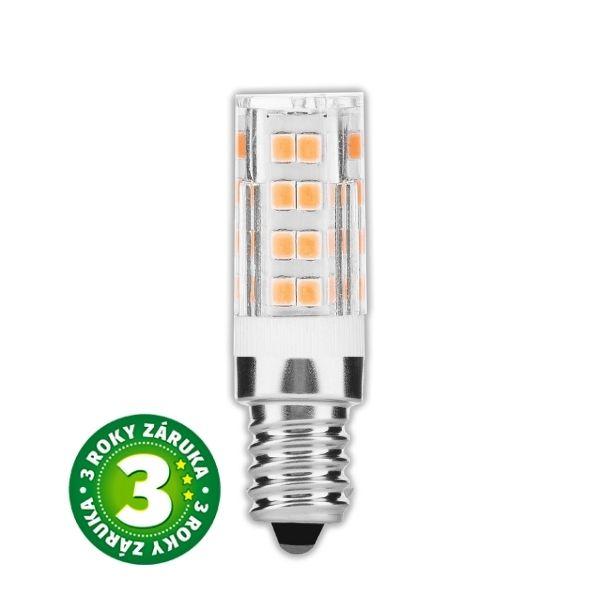Prémiová LED žárovka E14 4,5W 400lm teplá, 3 roky