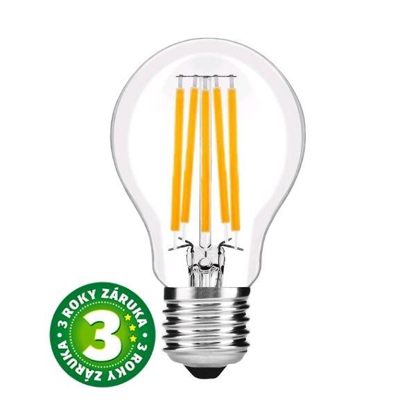 Prémiová retro LED žárovka E27 9W 1060lm teplá, filament, 3 roky