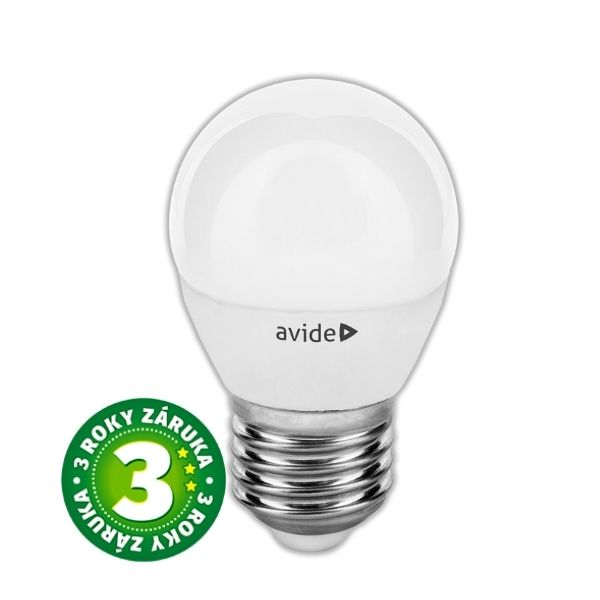 Prémiová LED žárovka E27 6W 530lm G45 teplá 2700 K, 3 roky
