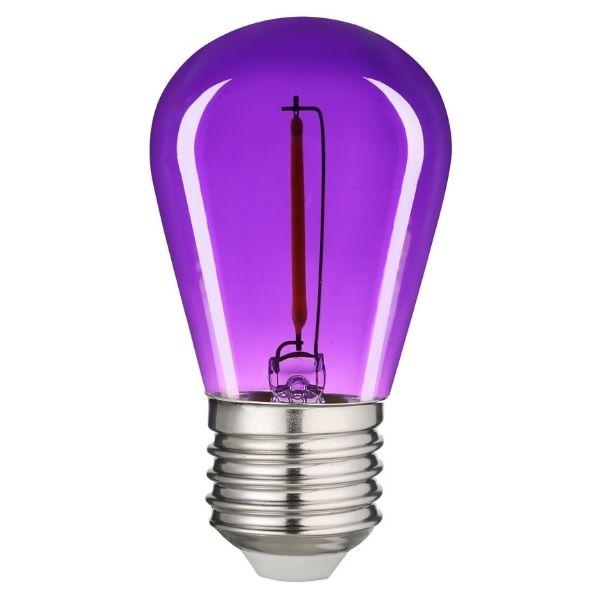 Retro barevná LED žárovka E27 0,6W 50lm fialová, filament