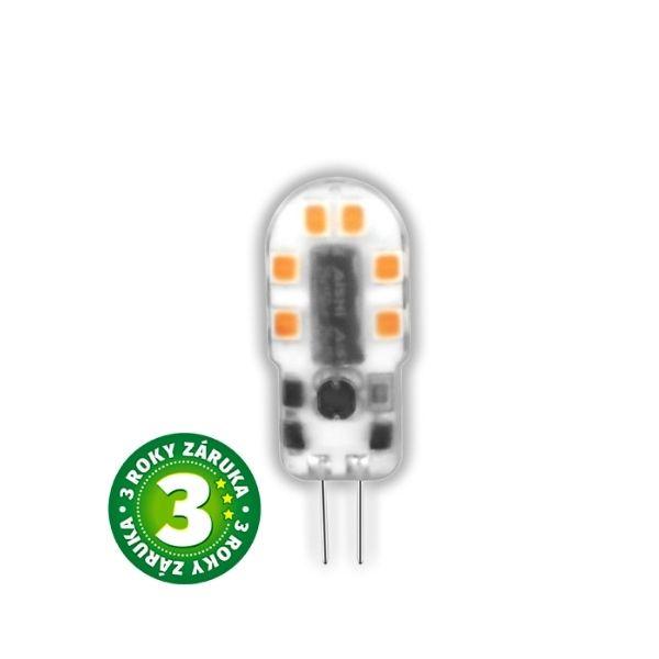 Prémiová LED žárovka G4 2,5W 200lm 12V teplá, 3 roky
