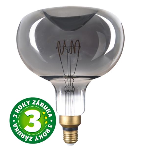 Stmívatelná prémiová retro MAXI LED žárovka E27 6W 150lm, extra teplá, filament, 3 roky
