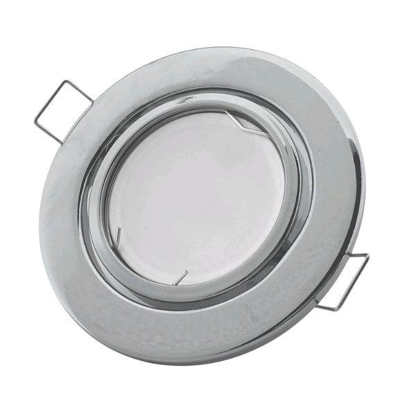 Podhledové bodové   svítidlo výklopné  chrom, včetně patice GU10
