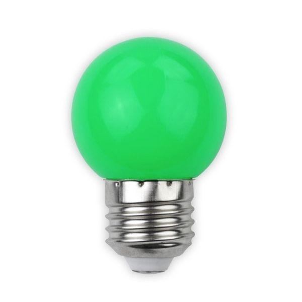 Barevná LED žárovka E27 1W 30lm zelená