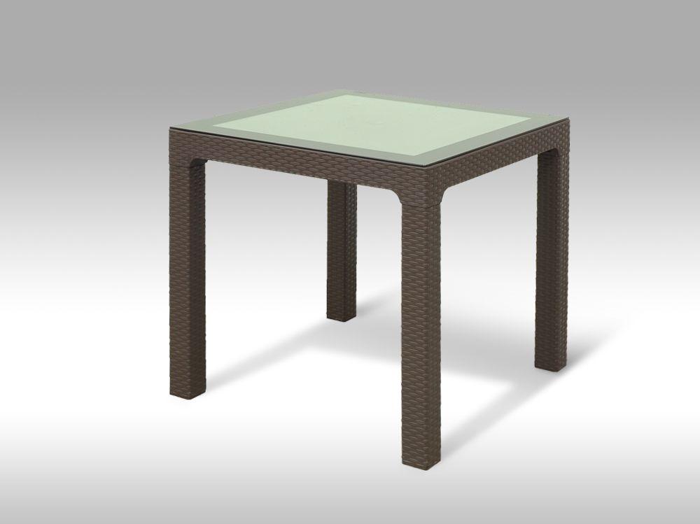 Plastový zahradní stůl Barcelona hnědý
