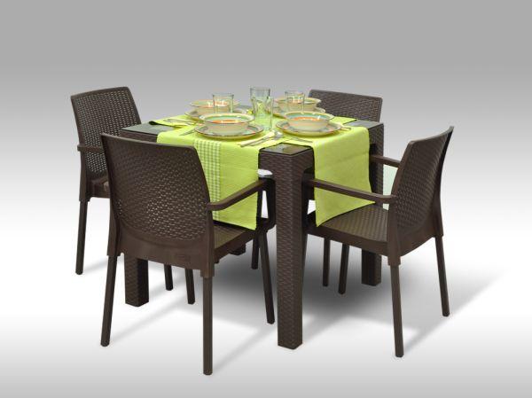 Jídelní sestava Barcelona + 4 židle Cordoba
