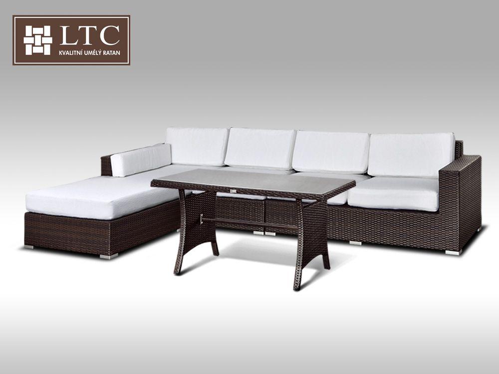 Luxusní sedací souprava z umělého ratanu Conchetta IX 3,22x1,9m + DÁREK
