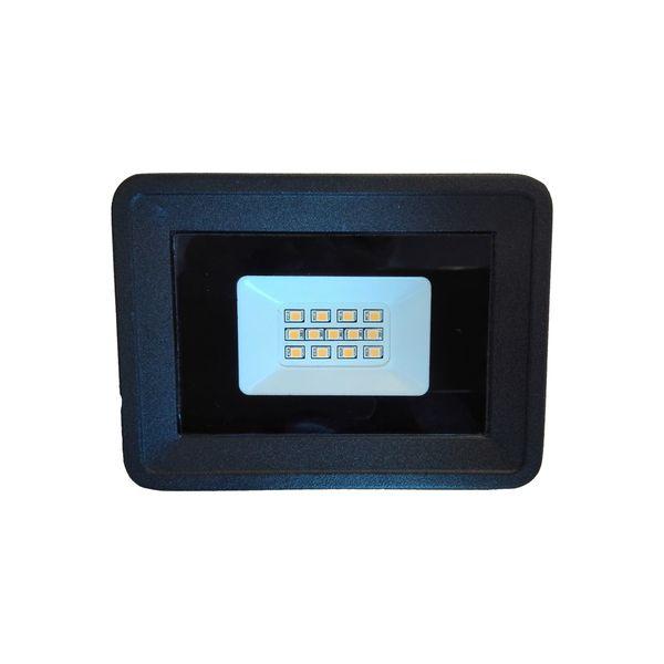 Ultratenký LED reflektor černý  10W 850lm teplá